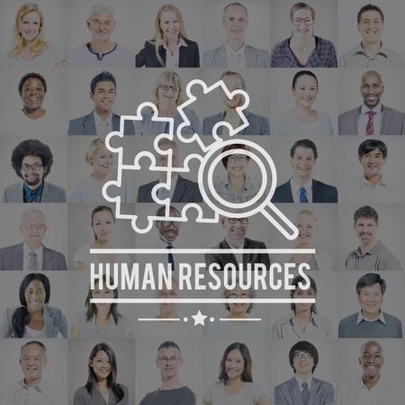 recursos humanos: Recursos Humanos Contratación Employement Contacto Concepto Foto de archivo