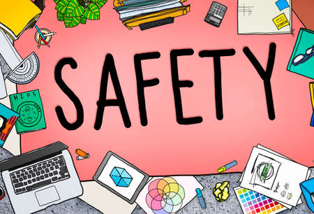 office stuff: Safety Firewall Protection Security Insurance Concept