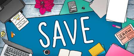 office stuff: Saving Save Money Finance Budget Banking Concept Stock Photo