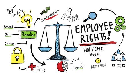 ley: Derechos de los empleados igualdad en el empleo empleo Reglas Ley Concepto Foto de archivo