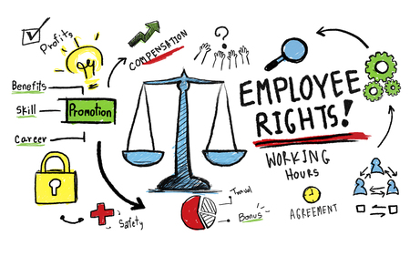 the law: Employee Rights Employment Equality Job Rules Law Concept