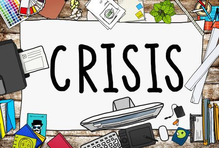 office stuff: Crisis Accounting Banking Failure Financial Concept Stock Photo