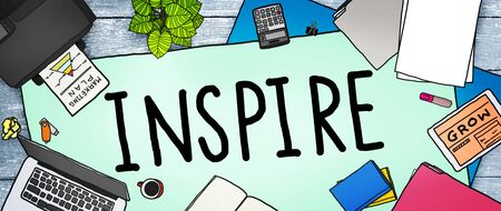 inspire: Inspire Ideas Creativity Inspiration Imagination Thinking Concept Stock Photo
