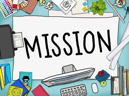 office stuff: Mission Success Target Aim Goal Concept
