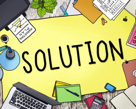 the solution: Solution Innovation Progress Strategy Decision Concept
