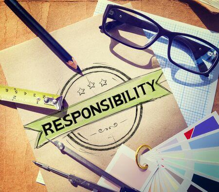 responsibility: Responsibility Reliability Trust Liability Trustworthy Concept Stock Photo