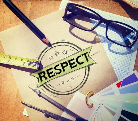 no integrity: Respect Honesty Honorable Regard Integrity Concept