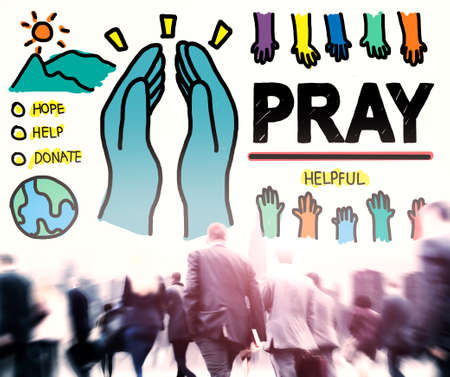 sacred trinity: Pray Praying Hope Help Spirituality Religion Concept