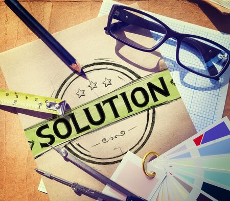 breaking new ground: Solution Problem Solving Organization Management Concept Stock Photo