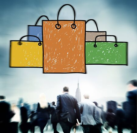 capitalism: Bolsa de la compra venta capitalismo Shopaholic Concepto