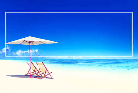 pacific ocean: Travel Beach Summer Landscape Pacific Ocean Concept Stock Photo