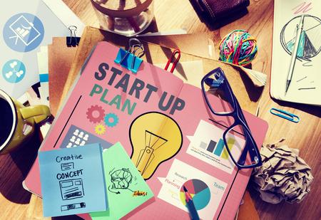 Startup Goals Growth Success Plan Business Concept