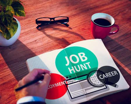 job hunt: Job Hunt Employment Career Recruitment Hiring Concept