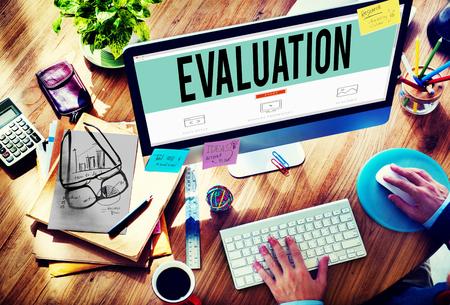 Evaluation Consideration Analysis Criticize Analytic Concept Stockfoto