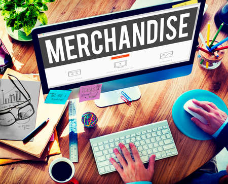 merchandise: Merchandise Product Marketing ConsumerSell Concept Stock Photo