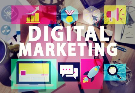 Digital Marketing Commerce campagna di promozione Concetto