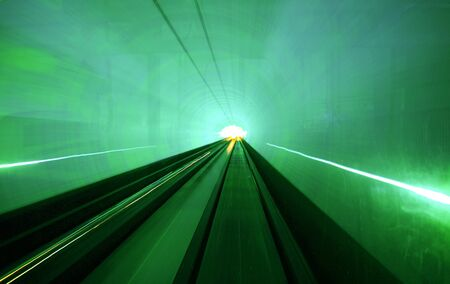 personal perspective: Shanghai light dispaly tunnel Long exposure concept