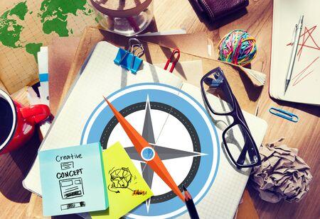 exploration: Navigation Compass Direction Exploration Guide Journey Concept