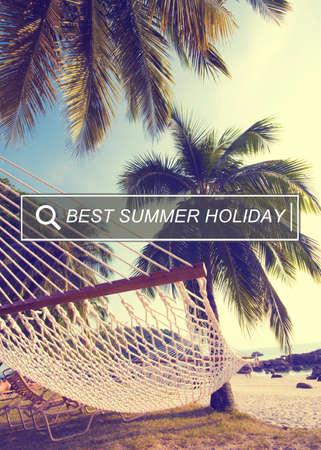 best travel destinations: Best Summer Holiday Enjoyment Freedom Concept