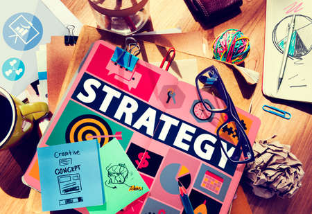 the solution: Strategy Solution Tactics Teamwork Growth Vision Concept