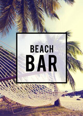 Summer Beach Bar Amistad concepto de vacaciones de vacaciones Foto de archivo