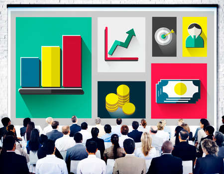 financial market: Business Growth Success Finance Economy Concept