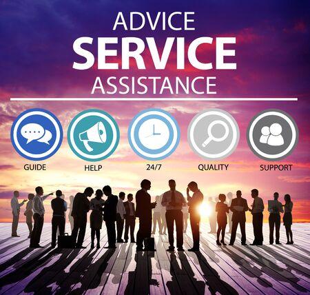 Tipps Serviceunterstützung für Customer Care Support Concept