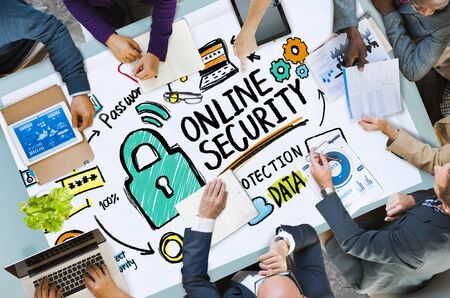 secret place: Online Security Password Information Protection Privacy Internet Concept