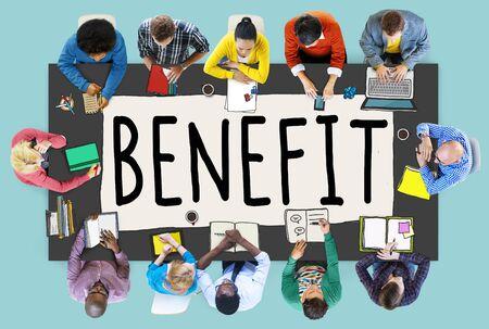 benefit: Benefit Income Incentive Profit Bonus Concept
