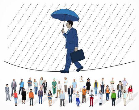 Risk Management Bescherming Opportunity Planning Concept