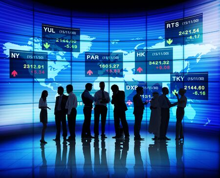forex: Business People Stock Exchange Concept