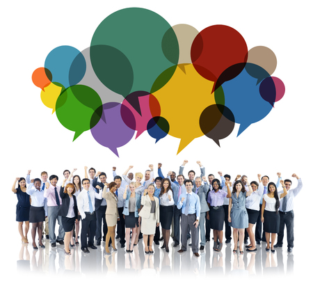 Business people with communication concept