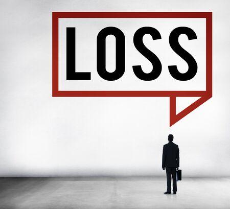 recession: Loss Recession Deduction Financial Crisis Concept