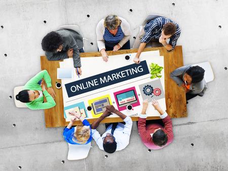 Concepto de Estrategia de Marketing Online Branding Comercio Publicidad