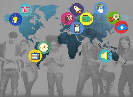 multi national: Global Community World People International Nationality Concept