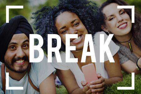 single word: Break Time Reminder Single Word Concept