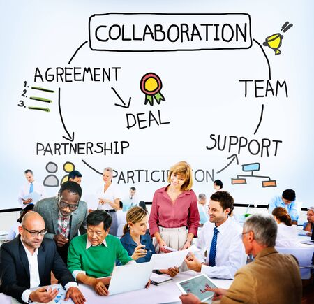 collaboration: Collaboration Corporate Support Partnership Connection Concept