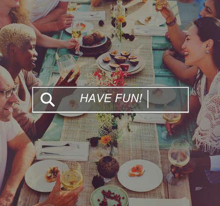 searh: Have Fun Beach Browsing Searh Box Concept Stock Photo