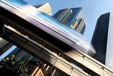 built structure: Skytrain in Kuala Lumpur Transportation Built Structure Concept Stock Photo