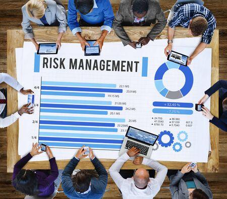 risk management: Risk Management Unsteady Safety Security Concept