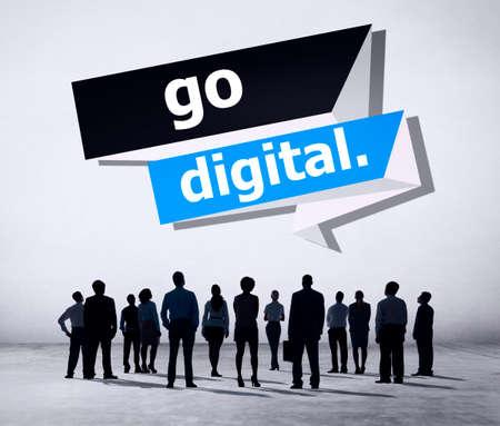 the latest: Go Digital Modern Latest Technology Upgrade Concept