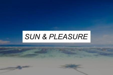 pleasure: Sun and Pleasure Summer Friendship Beach Vacation Concept
