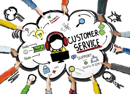 trustworthy: Customer Service Support Assistance Service Help Guide Concept