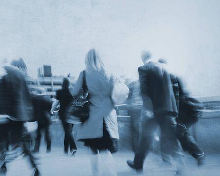 urban scene: Peoplel Commuter Walking City Urban Scene Concept