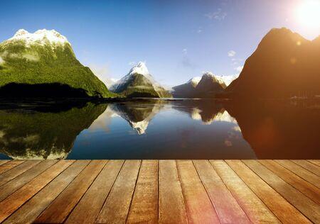milford: Milford Sound New Zealand Travel Destination Concept