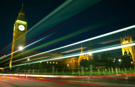 famous place: London Lights Clock Tower Famous Place Concept