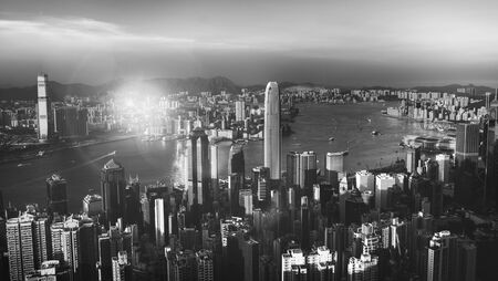 habour: Hong Kong Sunset Victoria Habour View Concept