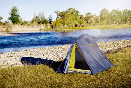 away from it all: Camping by The Beautiful River Relaxation Concept