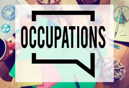 employing: Occupations Career Job Employment Hiring Recruiting Concept