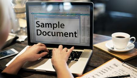 hoja de calculo: Spreadsheet Document Information Financial Startup Concept